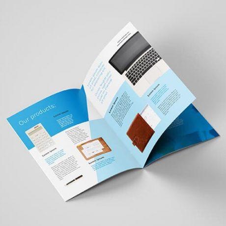 Saddle stitch booklet, letter size