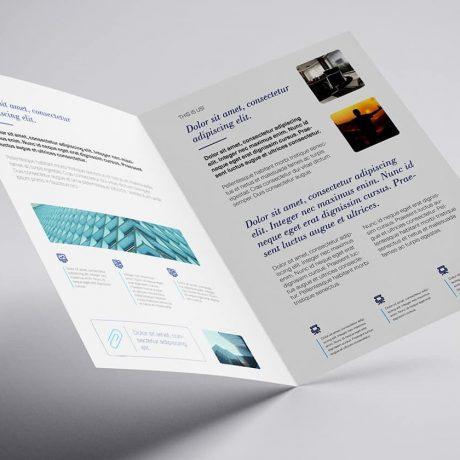 Tabloid newsletter or sell sheet