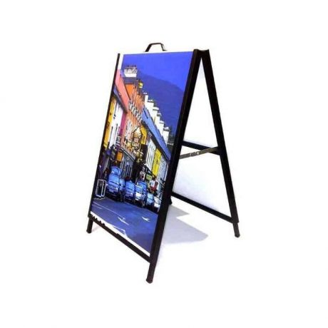 Coated metal stand and inserts are weather proof and sturdy