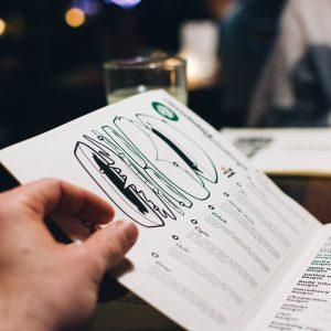Bi-fold menu