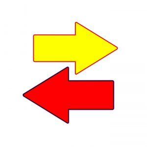 Covid-19 directional floor arrows